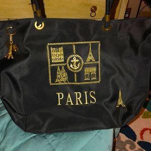 ⭐️NWOT Paris Black Nylon Tote Bag
